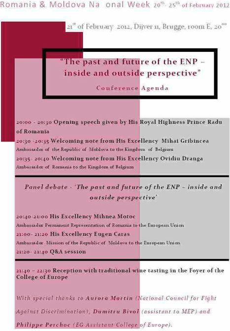 Principele Radu la Colegiul Europei Bruges