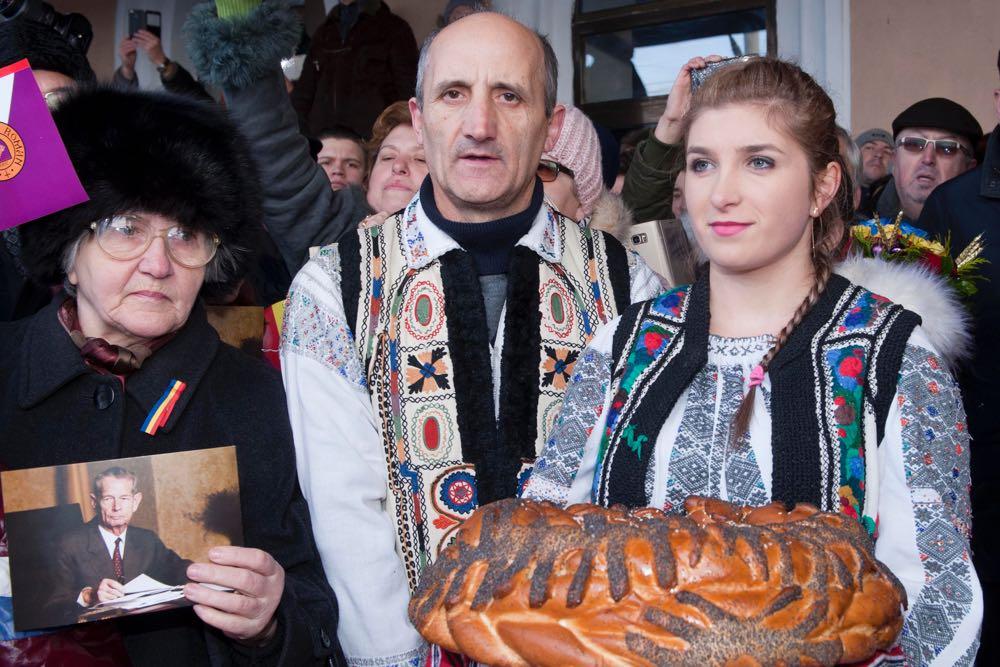 Familia Regala primita de locuitorii municipiului Roman, 16 decembrie 2016 ©Daniel Angelescu