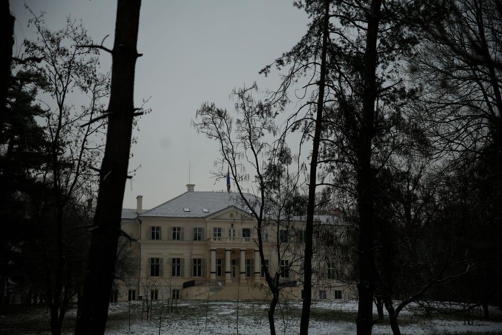 Savarsin, parcul si casa la ceas de sarbatoare a Craciunului 2016 ©Cristian Coposesc