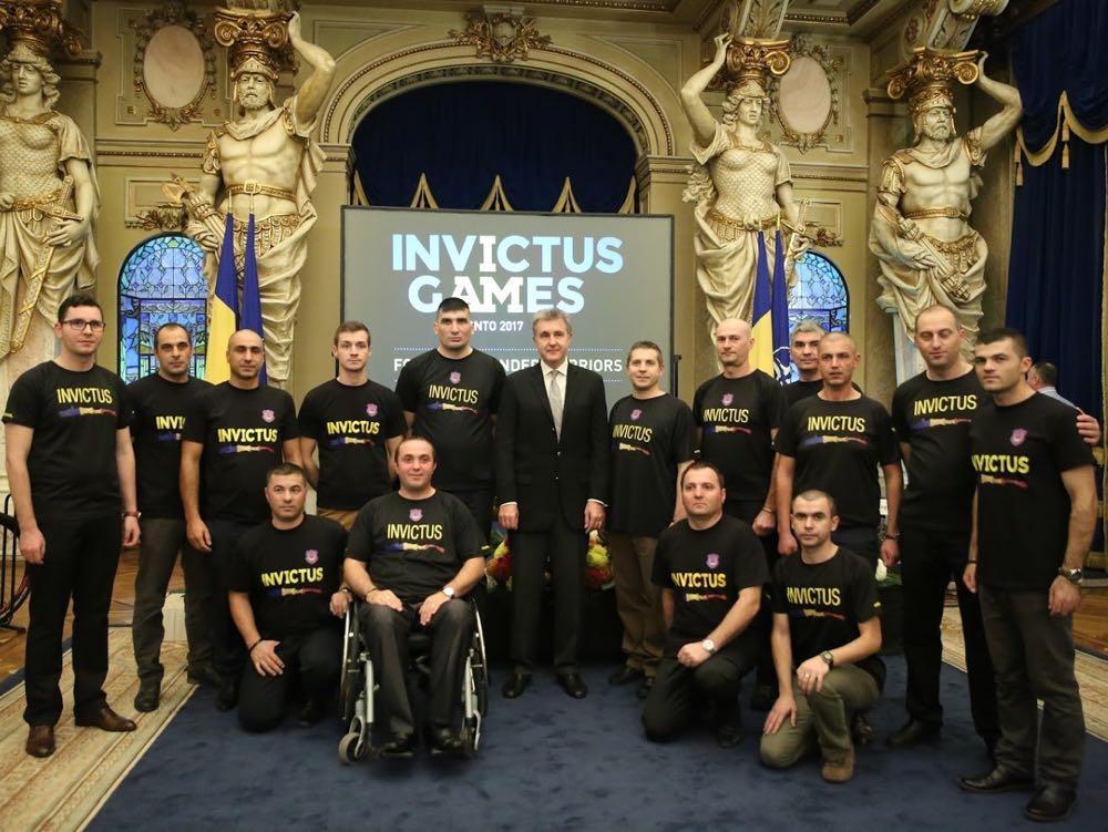 Principele Radu alaturi de sportivii militari Invictus Romania