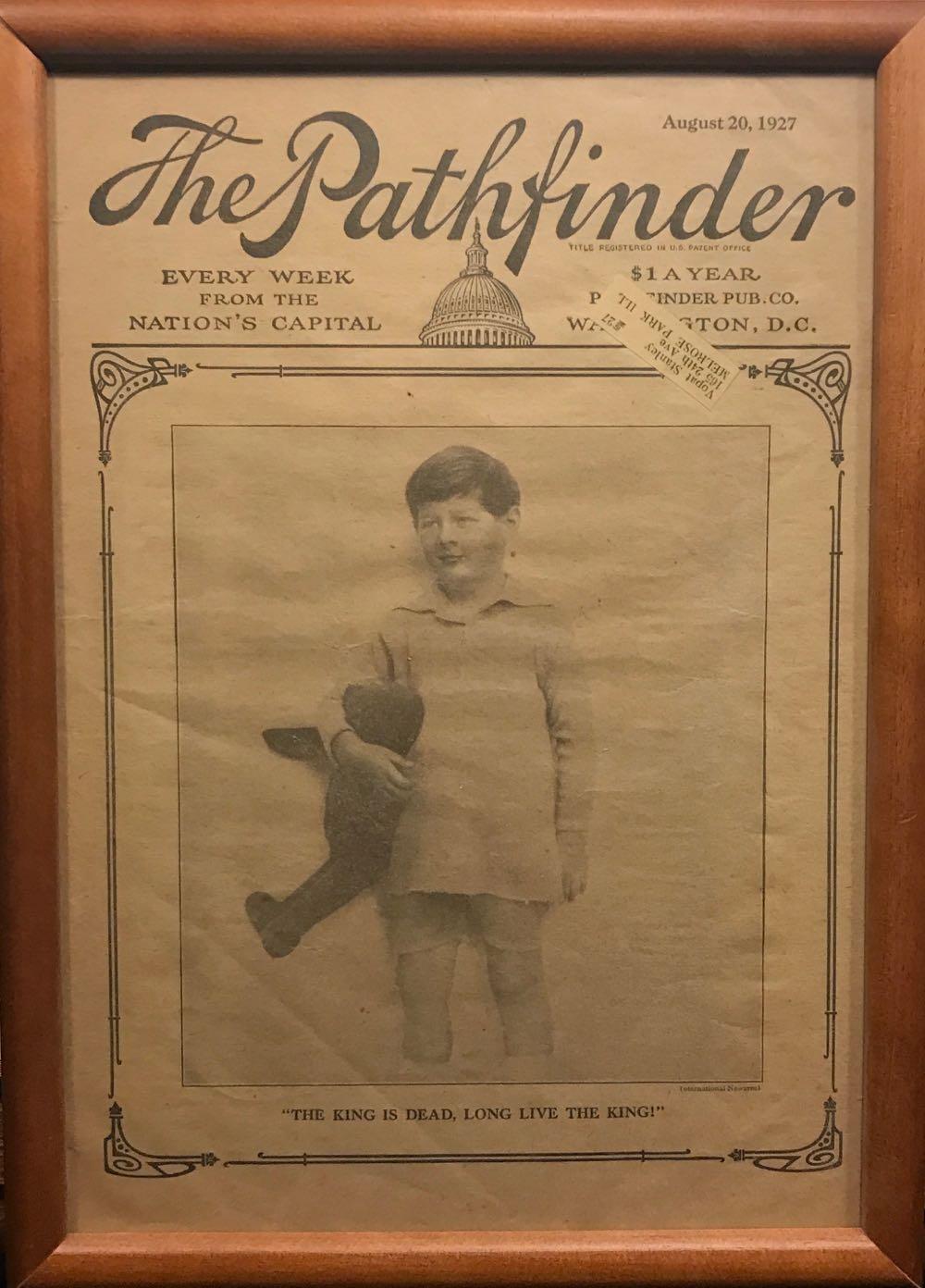 Revista saptamanala de stiri Pathfinder, Washington DC, numarul din 20 august 1927