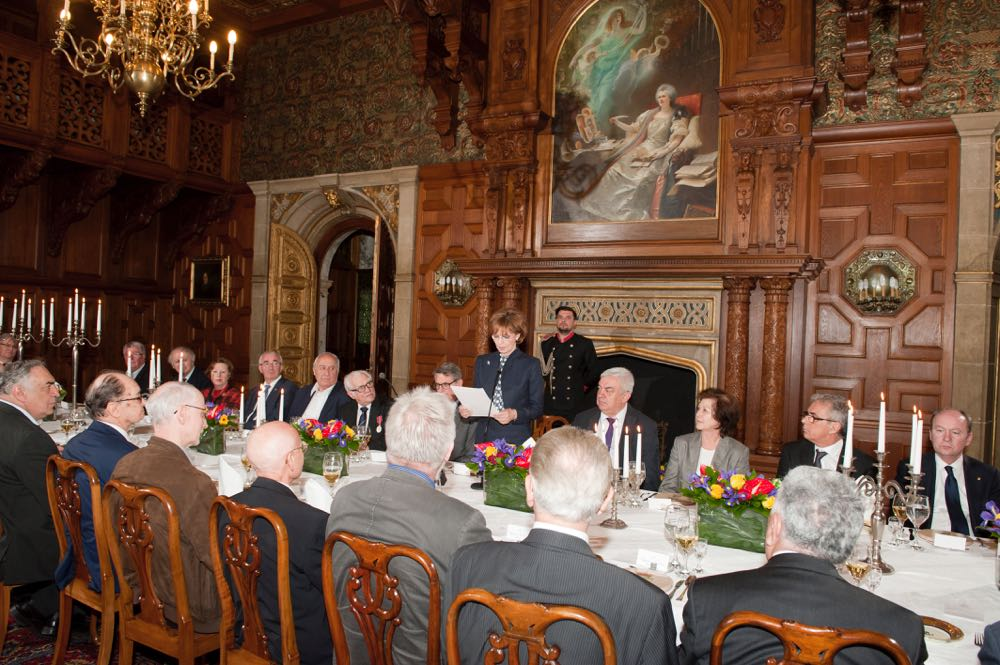 Dejun la Castelul Peles in onoarea Academiei Romane, aprilie 2016