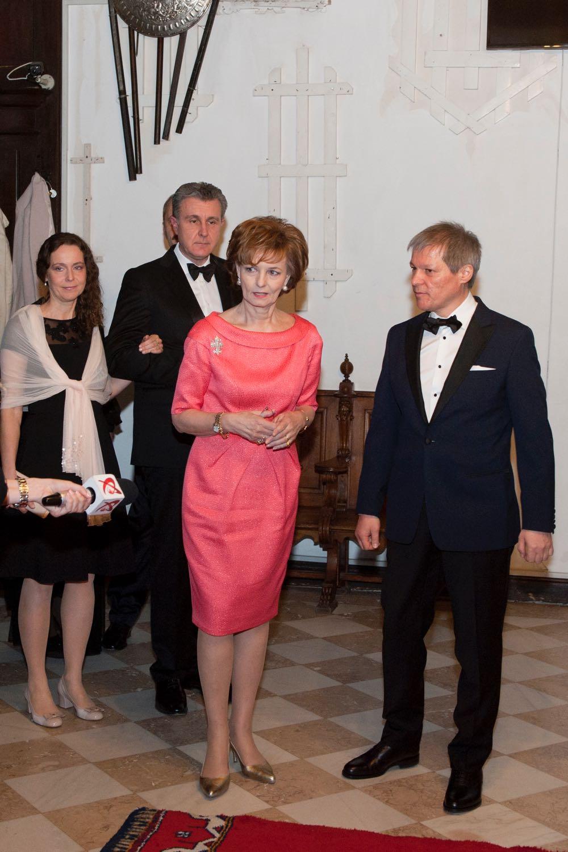Custodele Coroanei si Prim-ministrul Ciolos la Castelul Peles, 26 martie 2016