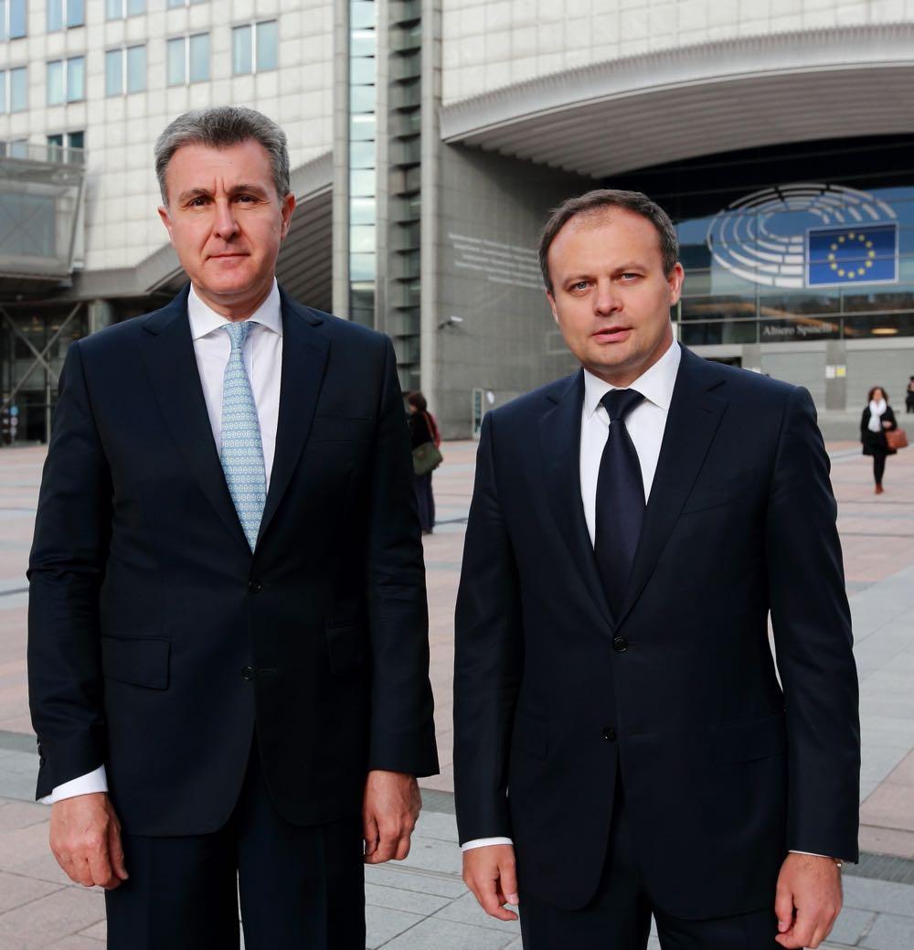 Principele Radu si Presedintele Parlamentului Republicii Moldova la Bruxelles, martie 2016