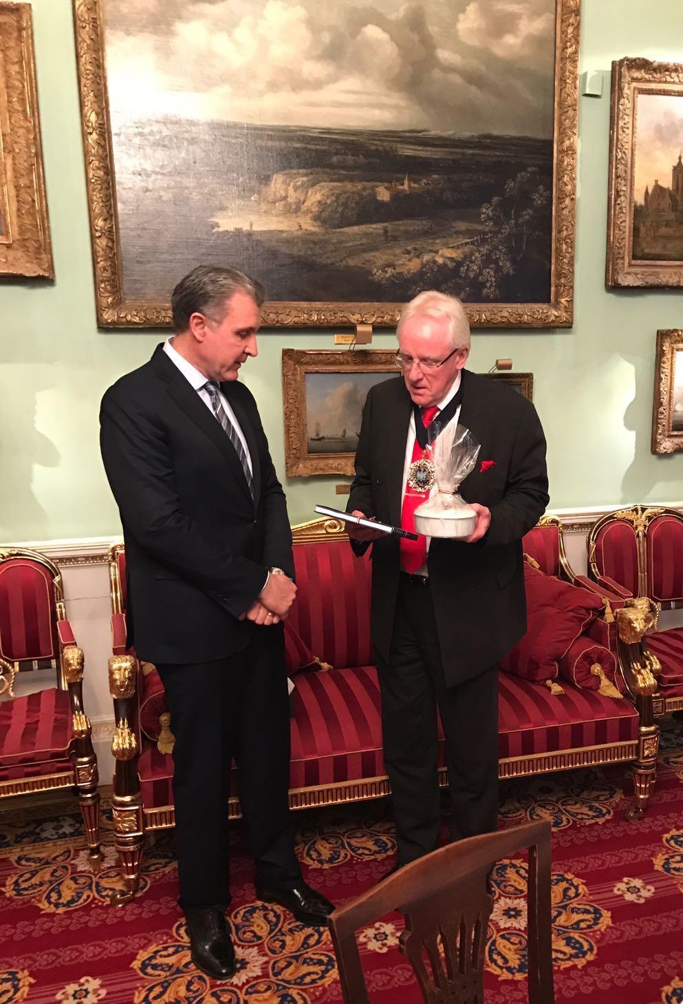 Principele Radu si Lordul Primar al Londrei, Mansion House, 7 februarie 2017, foto Leonard Chelaru-Popovici