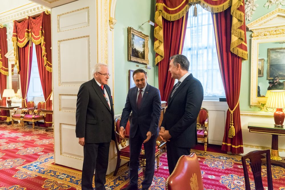 Principele Radu vizita la Lordul Primar al Londrei, Mansion House, 7 februarie 2017