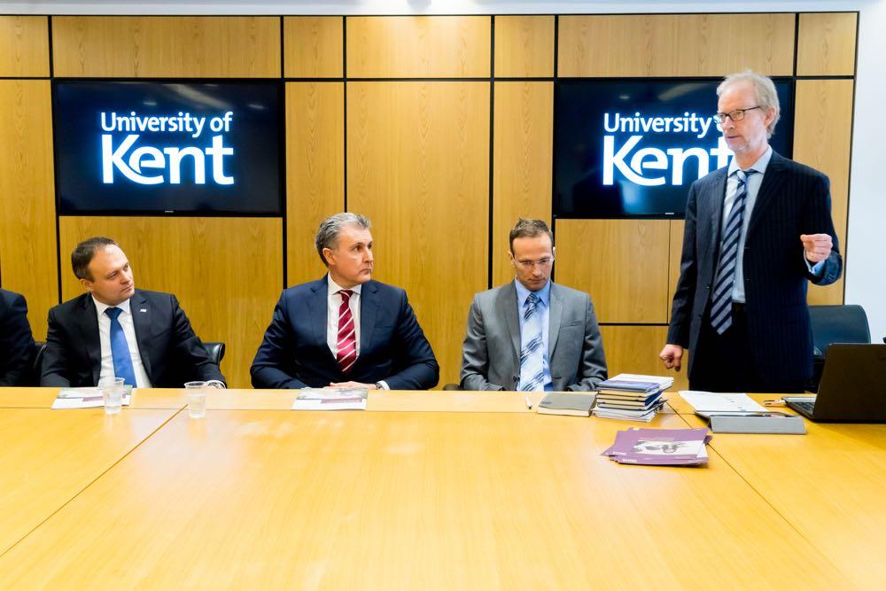 Vizita Principelui Radu la Universitatea Kent din Canterbury, 6 februarie 2017