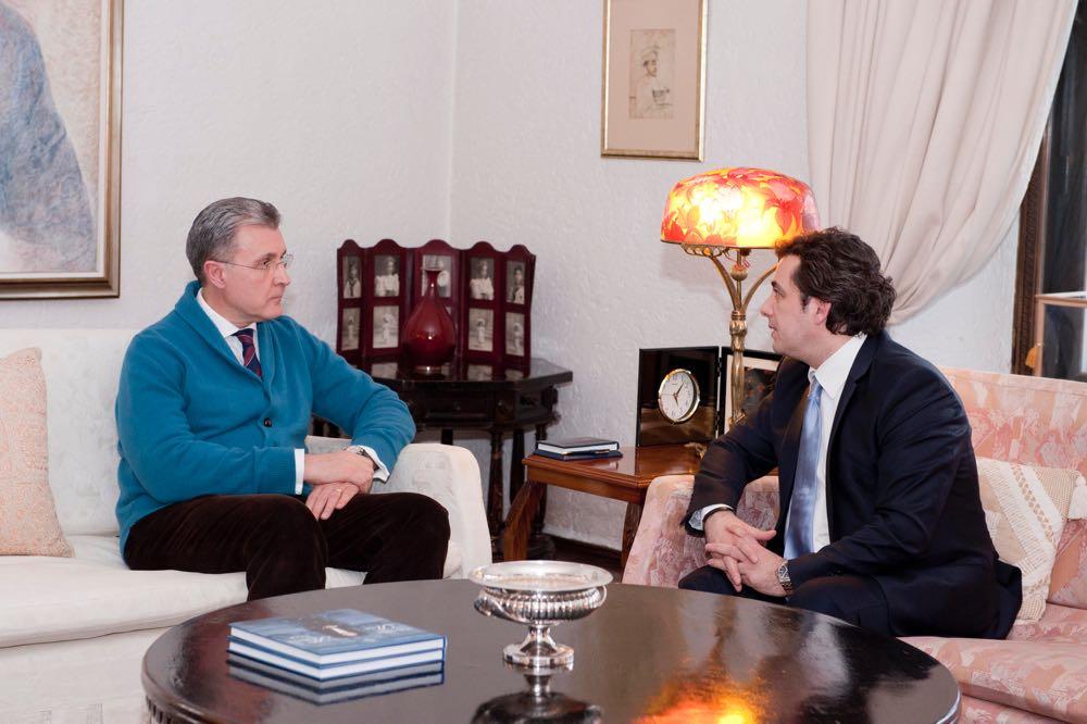 Ambasadorul Republicii Albania la Palatul Elisabeta, primit de ASR Principele Radu, 16 februarie 2917 ©Daniel Angelescu