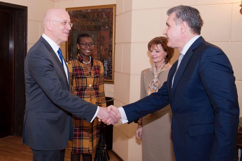 Principesa Mostenitoare Margareta, Principele Radu, ambasadorul Germaniei Cord Meier Klodt si sotia, Palatul Elisabeta, 15 martie 2017 ©Daniel Angelescu