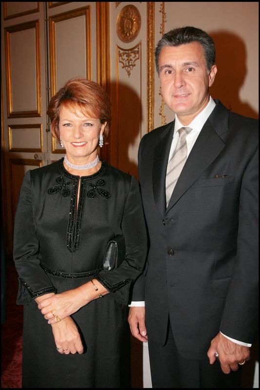 EXCLUSIF - LA PRINCESSE MARGARETA DE ROUMANIE ET SON MARI LE PRINCE RADU - DINER DE GALA DE LA FONDATION PRINCESSE MARGARITA DE ROUMANIE DANS LES SALONS BOFFRAND DE LA PRESIDENCE DU SENAT GALA DINNER OF THE PRINCESS MARGARITA OF ROMANIA FOUNDATION GIVEN AT THE SENAT IN PARIS