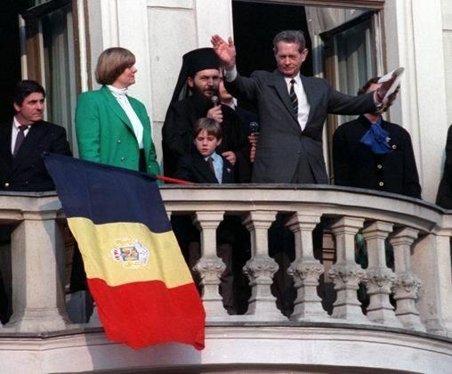 Regele Mihai I la Bucuresti de Pasti 1992
