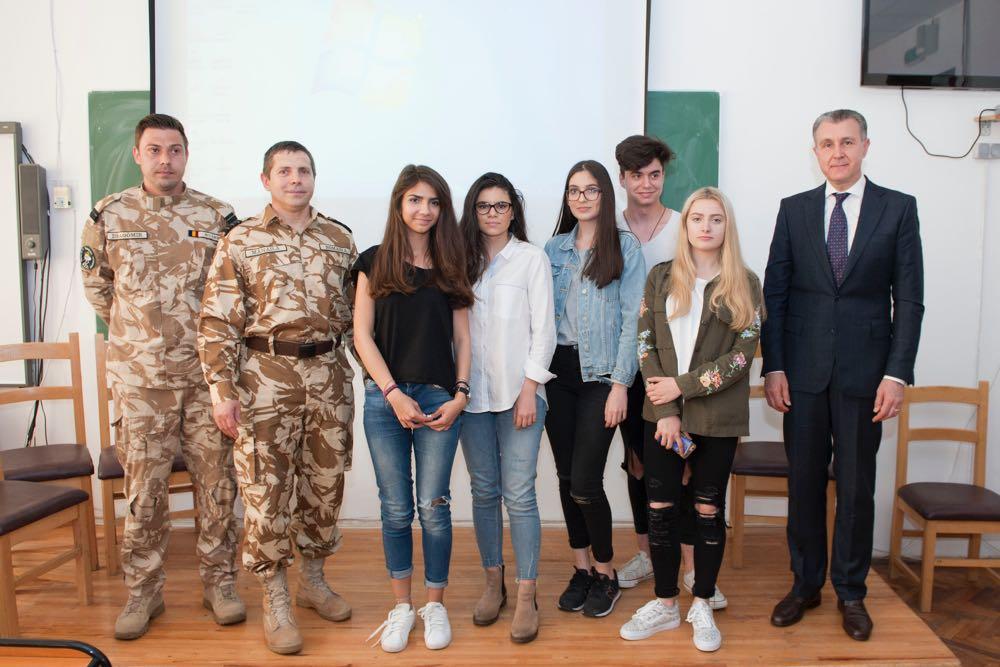 Principele Radu si militarii Invictus la Colegiul National Spiru Haret din Bucuresti, 15 mai 2017 ©Daniel Angelescu