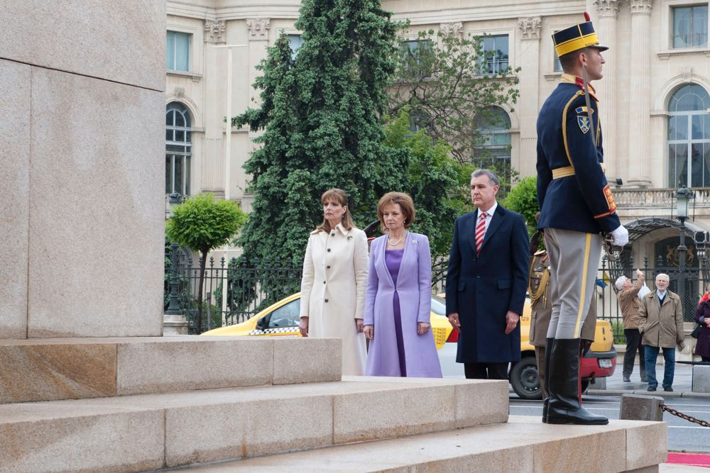 Familia Regala la statuia Regelui Carol I, 10 Mai 2017 ©Daniel Angelescu