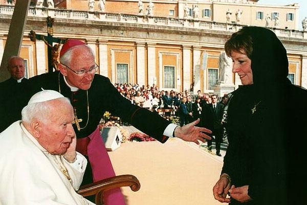 Principesa Mostenitoare Margareta Papa Ioan Paul al II-lea Vatican Domenica delle Palme 2003