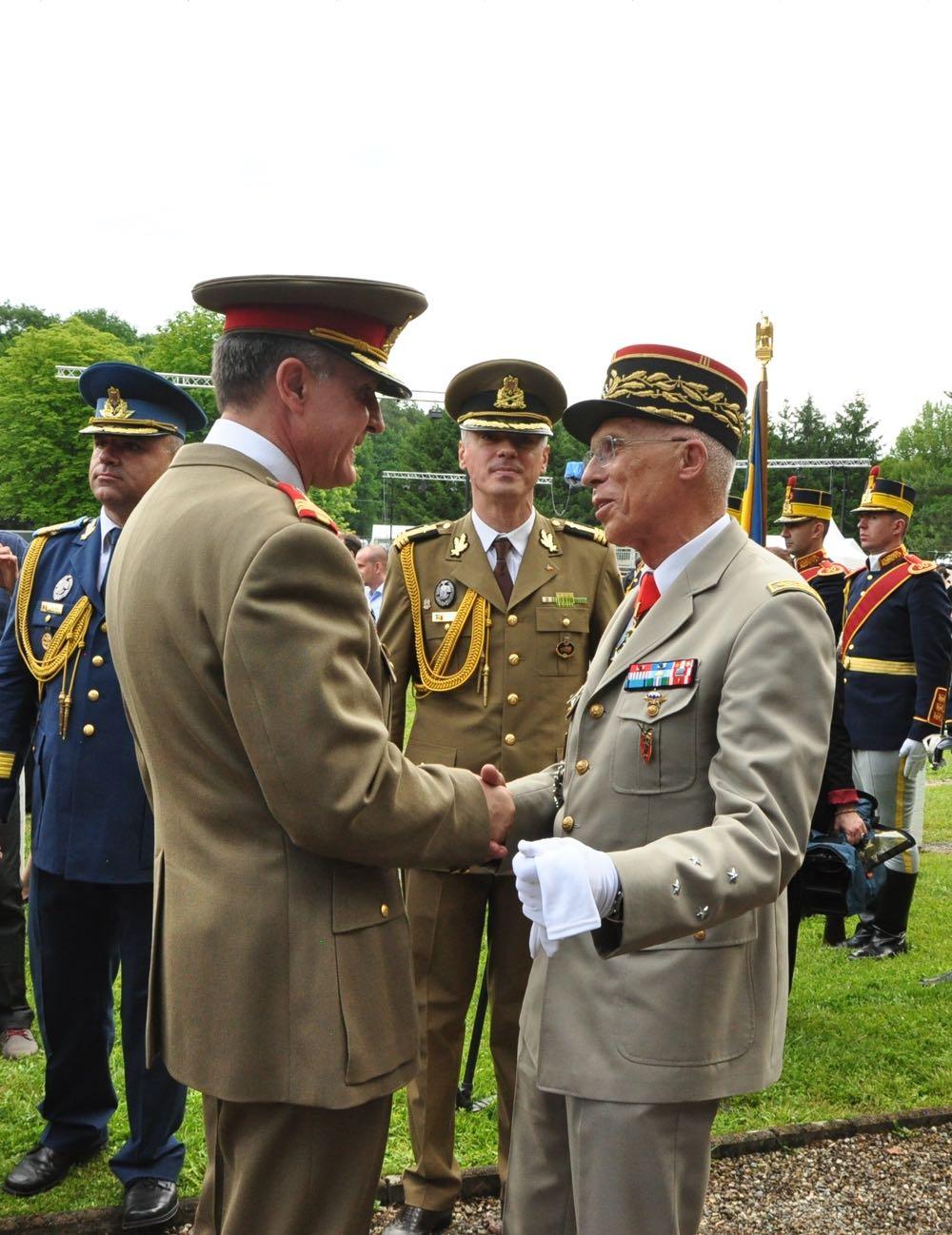 Ceremonie de omagiere a soldatilor romani ingropati la Soultzmatt in Primul Razboi Mondial, Principele Radu, 3 iunie 2017