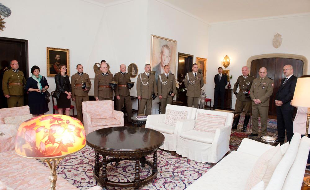 Principesa Mostenitoare Margareta, delegatie militara poloneza, Palatul Elisabeta, Batalionul Logistic Regele Carol II al Romaniei, 19 iunie 2017 ©Daniel Angelescu