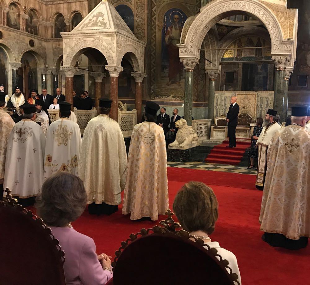 IMG_1756Principesa Mostenitoare Margareta si Principele Radu la sarbatorirea la 80 de ani a Regelui Simeon, Catedrala Sfantul Alexandru Nevski, 16 iunie 2017