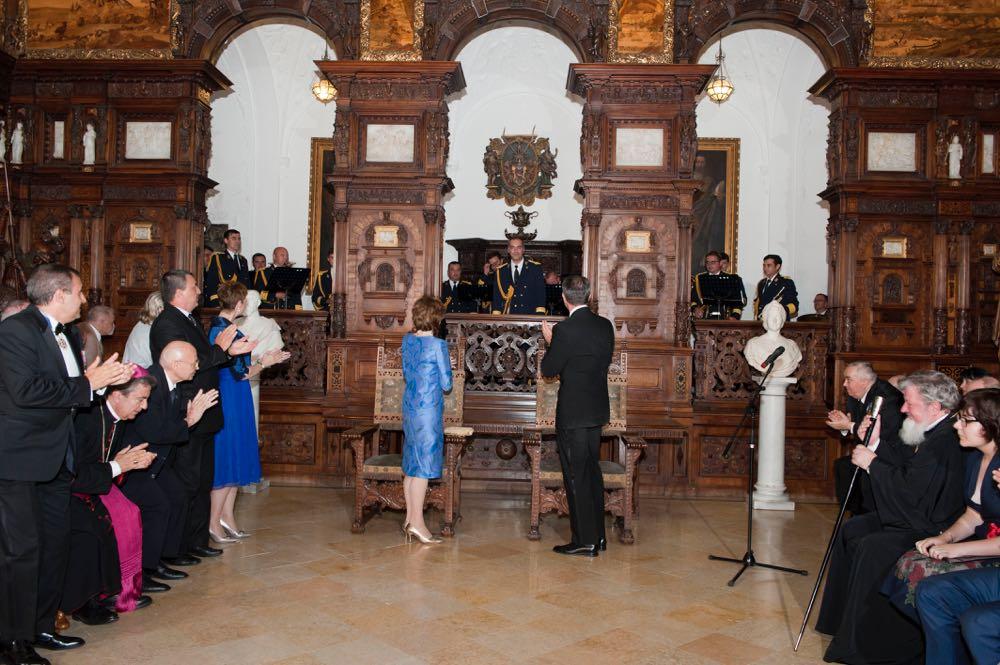 Aniversarea a 90 de ani de la proclamarea Majestatii Sale Regelui Mihai I ca rege al Romaniei, 12 iulie 2017, Castelul Peles, Holul de Onoare ©Daniel Angelescu