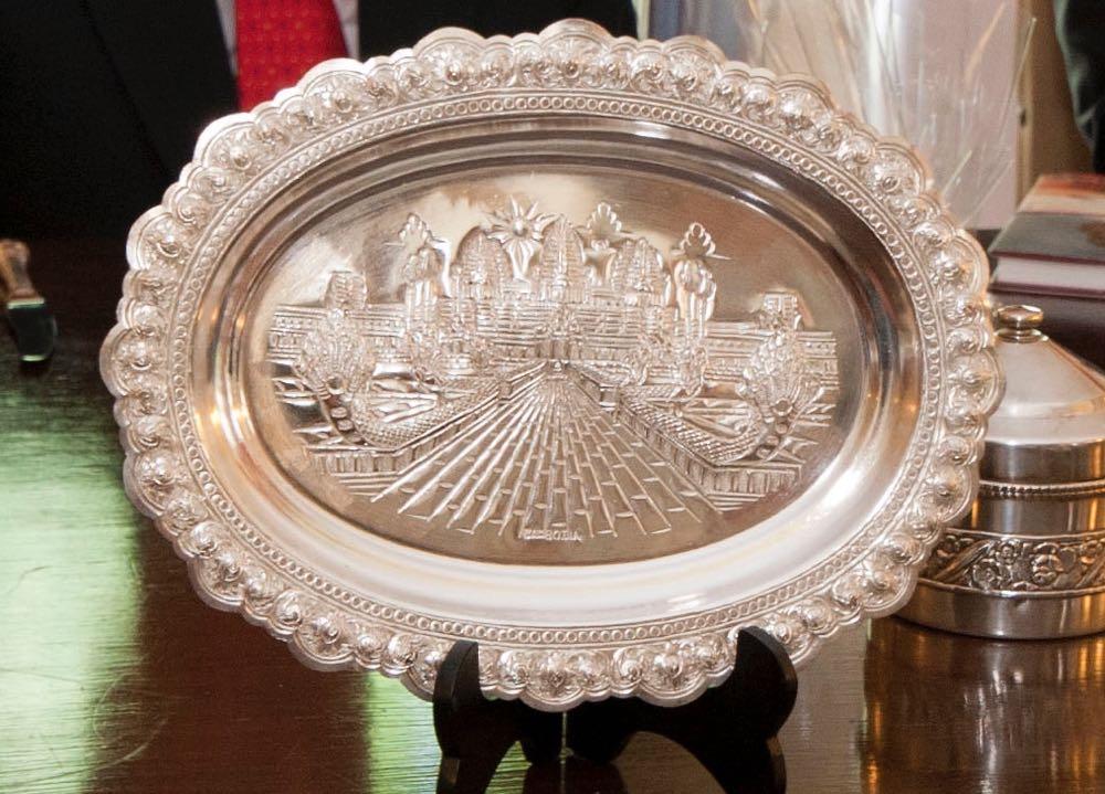 Custodele Coroanei romane a primit la Palatul Elisabeta o delegatie din Regatul Cambodgiei, 10 iulie 2017 ©Daniel Angelescu